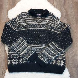 Ralph Lauren Quarter Zip Nordic Wool Sweater